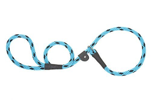 Mendota-Products-Slip-Lead-12-X-4-Black-Ice-Turquoise-Dogs-0
