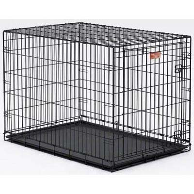 MidWest-Homes-for-Pets-Life-Stages-Single-Door-Folding-Metal-Dog-Crate-Black-36-X-24-X-27-Inch-0