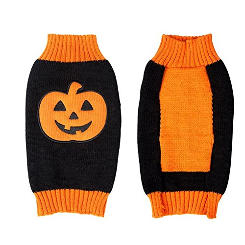 NACOCO-Dog-Sweater-Pumpkin-Pet-Sweaters-Halloween-Holiday-Party-Cat-Puppy-0-1