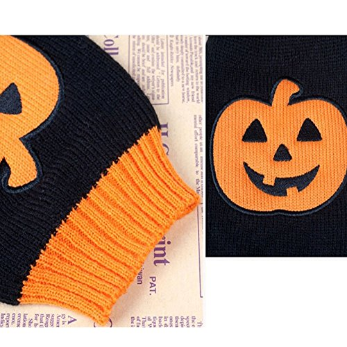 NACOCO-Dog-Sweater-Pumpkin-Pet-Sweaters-Halloween-Holiday-Party-Cat-Puppy-0-2