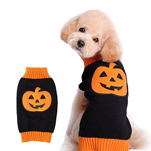 NACOCO-Dog-Sweater-Pumpkin-Pet-Sweaters-Halloween-Holiday-Party-Cat-Puppy-0