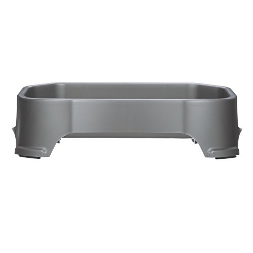 NEATER-PET-BRANDS-Neater-Slow-Feeder-Accessories-Gentle-Slow-Feeding-Bowl-for-Dogs-Gunmetal-Color-Non-Skid-Feet-0-0