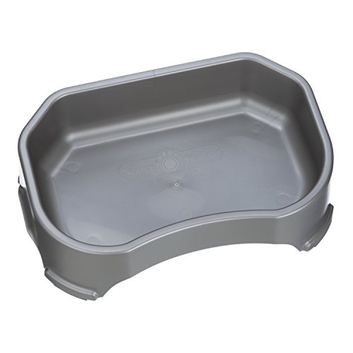 NEATER-PET-BRANDS-Neater-Slow-Feeder-Accessories-Gentle-Slow-Feeding-Bowl-for-Dogs-Gunmetal-Color-Non-Skid-Feet-0-2