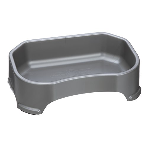NEATER-PET-BRANDS-Neater-Slow-Feeder-Accessories-Gentle-Slow-Feeding-Bowl-for-Dogs-Gunmetal-Color-Non-Skid-Feet-0