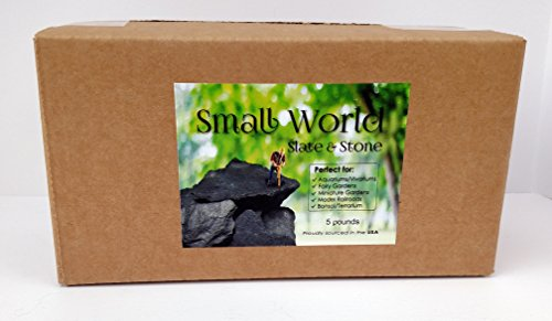Natural-Slate-Stone-3-to-5-inch-Rocks-for-Miniature-and-Fairy-Garden-Aquascaping-Aquariums-Reptile-enclosures-Model-Railroad-5lbs-0-2