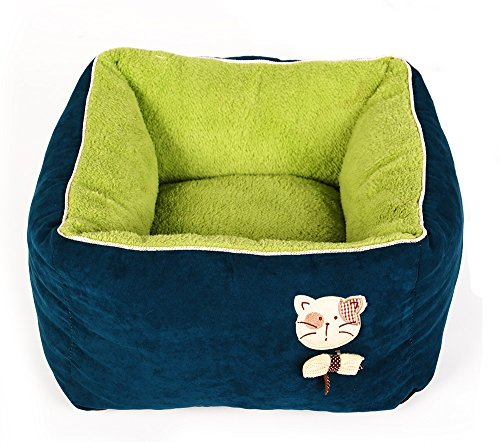 New-PLS-Birdsong-Princess-Plush-Bolster-Pet-Bed-Dog-Bed-Cat-Bed-Dog-Beds-for-Small-Dogs-Completely-Removable-and-Washable-Cover-0-0