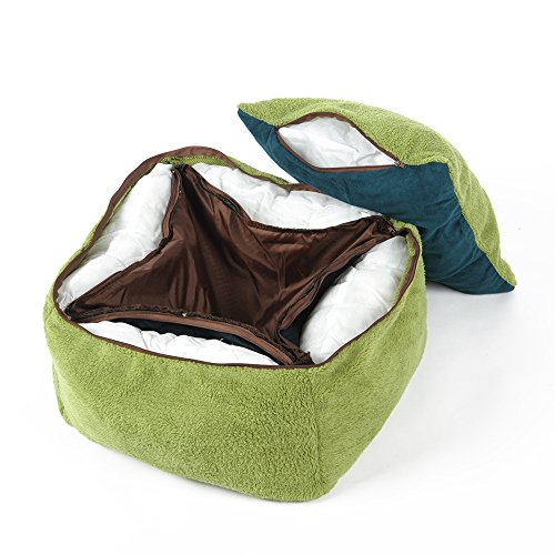 New-PLS-Birdsong-Princess-Plush-Bolster-Pet-Bed-Dog-Bed-Cat-Bed-Dog-Beds-for-Small-Dogs-Completely-Removable-and-Washable-Cover-0-1