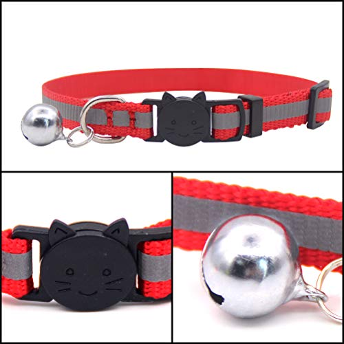 OFPUPPY-12-Pcs-Cat-Collars-Breakaway-Reflective-Nylon-Safety-Collars-with-Bell-for-Kitty-Kitten-0-1