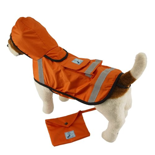 One-for-Pets-Safety-Hooded-Raincoats-12-Inch-Orange-Red-0