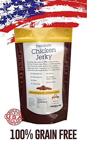 Organic-Premium-Chicken-Jerky-Dog-Treats-Made-in-USA-Grain-Free-All-Natural-1-Ingredient-USDA-Grade-A-Chicken-Breast-Pet-Training-Thick-Jerky-Chew-No-Preservatives-No-Soy-Gluten-Free-0-0