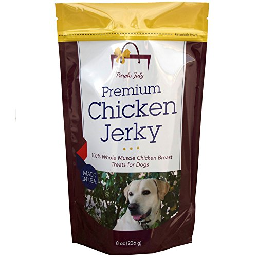 Organic-Premium-Chicken-Jerky-Dog-Treats-Made-in-USA-Grain-Free-All-Natural-1-Ingredient-USDA-Grade-A-Chicken-Breast-Pet-Training-Thick-Jerky-Chew-No-Preservatives-No-Soy-Gluten-Free-0