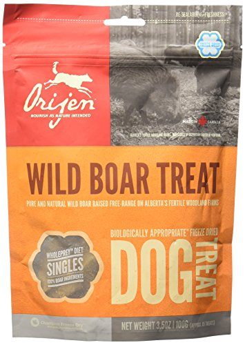Orijen-Alberta-Wild-Boar-Singles-Freeze-Dried-Dog-Treats-35-oz-bag-approx-85-treats-0