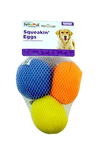 Outward-Hound-Kyjen-31016-Squeakin-Eggs-Egg-babies-Replacement-Dog-Toys-Squeak-Toys-3-Pack-Large-Multicolor-0