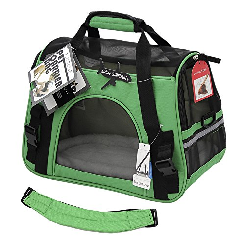 OxGord-Pet-Carrier-Soft-Sided-Cat-Dog-Comfort-FAA-Airline-Approved-Travel-Tote-Bag-2015-Newly-Designed-Small-Shamrock-Green-0-0