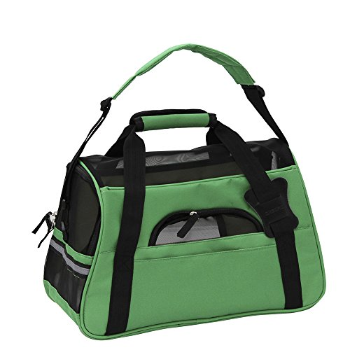 OxGord-Pet-Carrier-Soft-Sided-Cat-Dog-Comfort-FAA-Airline-Approved-Travel-Tote-Bag-2015-Newly-Designed-Small-Shamrock-Green-0-2