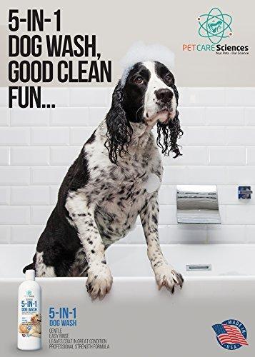 PET-CARE-Sciences-5-in-1-Dog-Puppy-Shampoo-Conditioner-Coconut-Oil-Oatmeal-Aloe-Palm-MIUSA-0-0