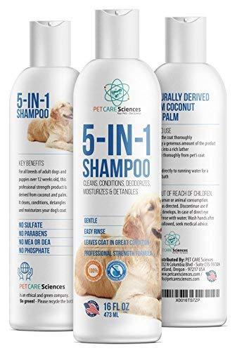 PET-CARE-Sciences-5-in-1-Dog-Puppy-Shampoo-Conditioner-Coconut-Oil-Oatmeal-Aloe-Palm-MIUSA-0