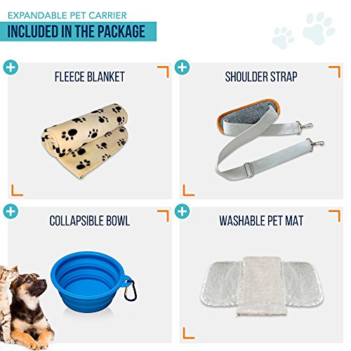 PETYELLA-Luxury-Pet-Carrier-Fleece-Blanket-Bowl-Airline-Approved-Innovative-Design-Lightweight-Dog-Cat-Carrier-0-0
