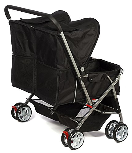 Paws-Pals-Double-Dog-Stroller-Pet-Strollers-for-Small-Medium-Dogs-Cats-Two-Doggy-Puppy-or-2-Kitty-Cat-Carriage-Buggy-Fold-able-Animal-Pets-Doggie-Cart-Carriages-0-0