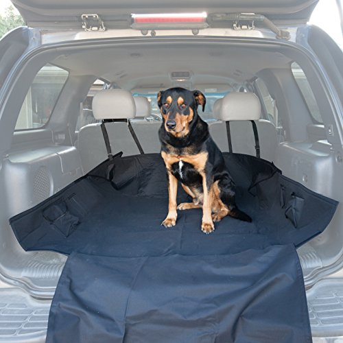 Paws-Pals-Pet-Seat-Cover-for-Cars-with-Thick-HD-Fabric-Waterproof-and-Washable-Trunk-Cargo-Liner-Bed-Floor-Mat-64-x-52-Easy-Install-Fits-Most-Autos-SUV-Vans-Trucks-2015-Newly-Designed-0