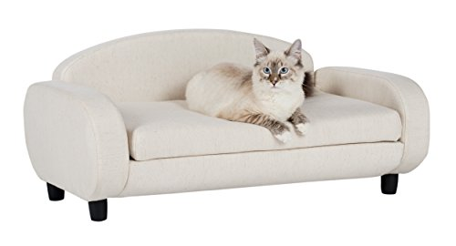 Paws-Purrs-Pet-Upholstered-Sofa-Bed-Oatmeal-0