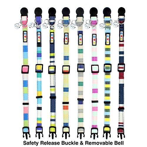 Pawtitas-Pet-Multicolor-Cat-Collar-Safety-Buckle-Removable-Bell-Cat-Collar-Kitten-Collar-Cat-Collar-0-0