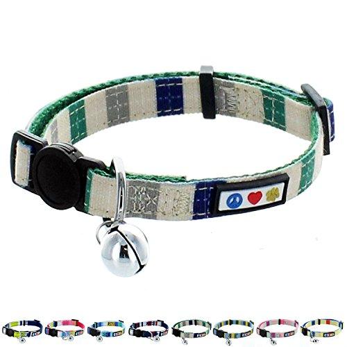 Pawtitas-Pet-Multicolor-Cat-Collar-Safety-Buckle-Removable-Bell-Cat-Collar-Kitten-Collar-Cat-Collar-0