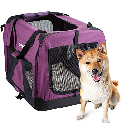Pettom-Dog-Crate-Soft-Sided-Kennel-for-Pet-Indoor-Home-Outdoor-Use-3-Door-Folding-Collapsible-Travel-Carrier-for-Medium-Large-Dogs-0-2