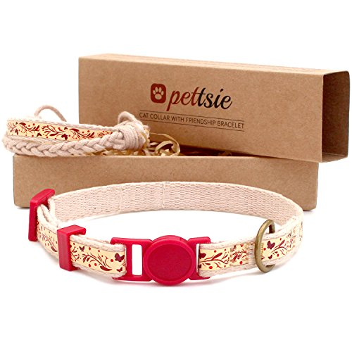 Pettsie-Cat-Collar-Breakaway-Safety-and-Friendship-Bracelet-for-You-100-Cotton-for-Extra-Safety-D-Ring-for-Accessories-Comfortable-Cotton-Adjustable-75-115-Inch-0