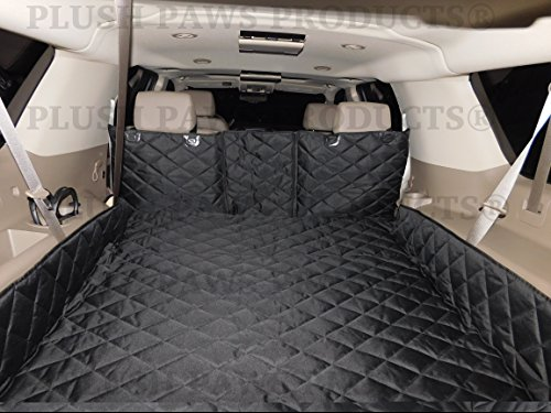 Plush-Paws-Refined-Cargo-Liner-for-Dogs-and-Pets-Waterproof-Nonslip-Silicone-Backing-for-Trucks-Suvs-YKK-Zippers-and-Bumper-Flap-0-0
