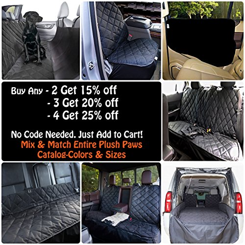 Plush-Paws-Refined-Cargo-Liner-for-Dogs-and-Pets-Waterproof-Nonslip-Silicone-Backing-for-Trucks-Suvs-YKK-Zippers-and-Bumper-Flap-0-1
