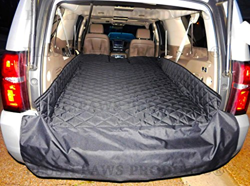Plush-Paws-Refined-Cargo-Liner-for-Dogs-and-Pets-Waterproof-Nonslip-Silicone-Backing-for-Trucks-Suvs-YKK-Zippers-and-Bumper-Flap-0-2