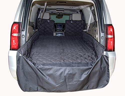 Plush-Paws-Refined-Cargo-Liner-for-Dogs-and-Pets-Waterproof-Nonslip-Silicone-Backing-for-Trucks-Suvs-YKK-Zippers-and-Bumper-Flap-0