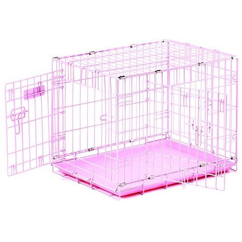Precision-Pet-ProValu-Double-Door-Dog-Crate-Pink-0