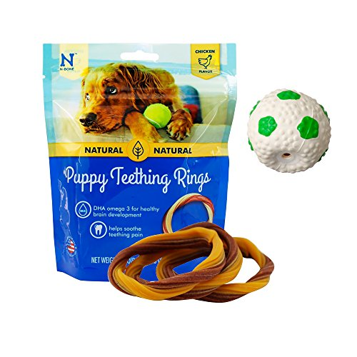 Puppy-Teething-Toys-Puppy-Teething-Ring-Bones-Puppy-Treats-Chicken-Natural-Dental-Chews-Best-For-Puppy-Chewing-Puppy-Teething-Set-With-Squeaky-Ball-and-3-Teething-Rings-Puppy-Chew-Bundle-0