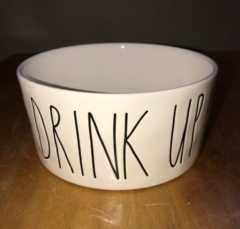 Rae-Dunn-Magenta-Ceramic-Pet-Bowl-Drink-Up-6-Inch-0