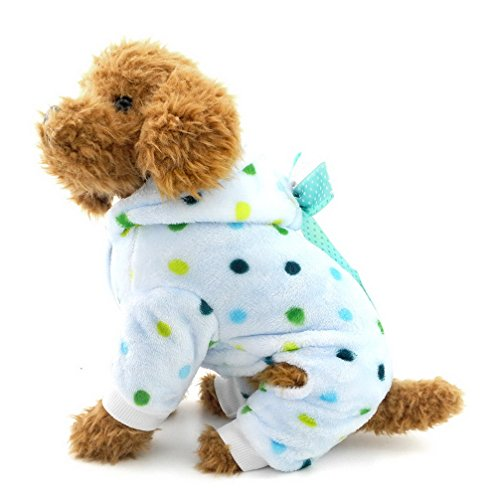 Ranphy-Cute-Small-Dog-Fleece-Pajamas-Dots-Puppy-Outfits-Hoodies-Soft-Cozy-PJ-Four-Leg-Pet-Jumpsuit-Lovely-Chihuahua-Clothes-0