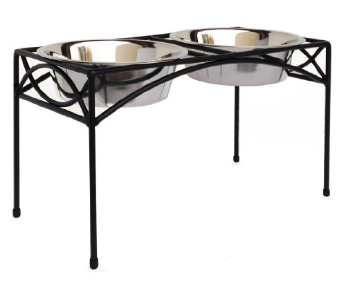 Regal-Elevated-Dog-Feeder-with-Not-So-Fast-Bowl-12-Tall-Slows-Down-Gulpers-0