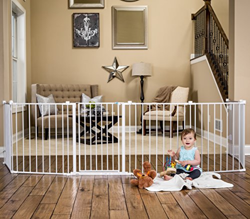 Regalo-192-Inch-Super-Wide-Adjustable-Baby-Gate-and-Play-Yard-4-In-1-Bonus-Kit-Includes-4-Pack-of-Wall-Mounts-0-1