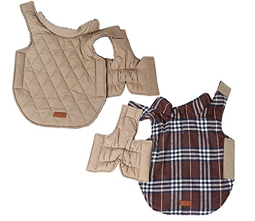 Reversible-British-Style-Grid-Dog-JacketWater-Repellent-Quilted-Winter-Clothes-for-Pet-0-0
