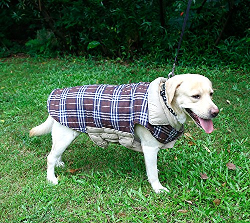 Reversible-British-Style-Grid-Dog-JacketWater-Repellent-Quilted-Winter-Clothes-for-Pet-0-2