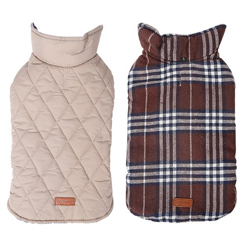 Reversible-British-Style-Grid-Dog-JacketWater-Repellent-Quilted-Winter-Clothes-for-Pet-0