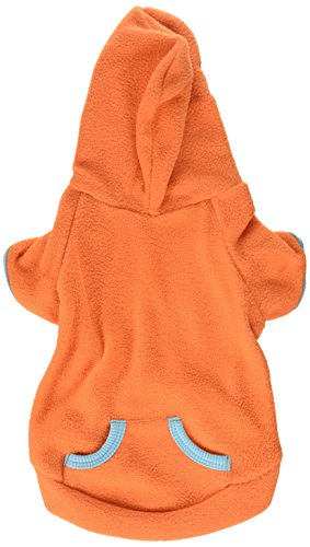 SMALLLEELuckyStore-Pet-Clothes-for-Small-Dog-Cat-Blank-Fleece-Coat-Hoodie-Jumper-Sport-Style-Orange-S-0