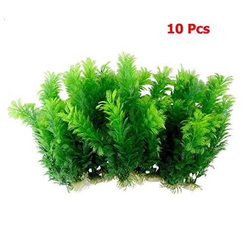 Saim-Green-Artificial-Plastic-Plants-Set-Aquarium-Decor-Fish-Tank-Ornament-12-Tall-Pack-of-10-0-0