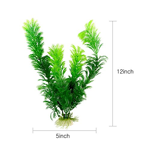 Saim-Green-Artificial-Plastic-Plants-Set-Aquarium-Decor-Fish-Tank-Ornament-12-Tall-Pack-of-10-0-1