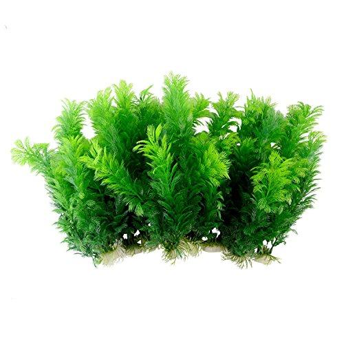 Saim-Green-Artificial-Plastic-Plants-Set-Aquarium-Decor-Fish-Tank-Ornament-12-Tall-Pack-of-10-0