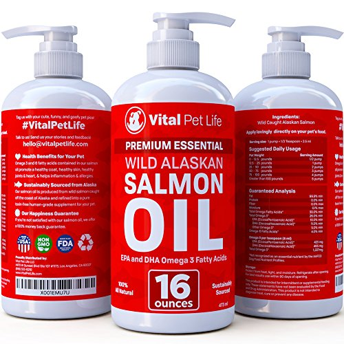 Salmon-Oil-for-Dogs-Cats-and-Horses-Fish-Oil-Omega-3-Food-Supplement-for-Pets-Wild-Alaskan-100-All-Natural-Helps-Dry-Skin-Allergies-and-Joints-Promotes-Healthy-Coat-Helps-Inflammation-16-oz-0-0