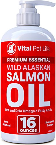 Salmon-Oil-for-Dogs-Cats-and-Horses-Fish-Oil-Omega-3-Food-Supplement-for-Pets-Wild-Alaskan-100-All-Natural-Helps-Dry-Skin-Allergies-and-Joints-Promotes-Healthy-Coat-Helps-Inflammation-16-oz-0