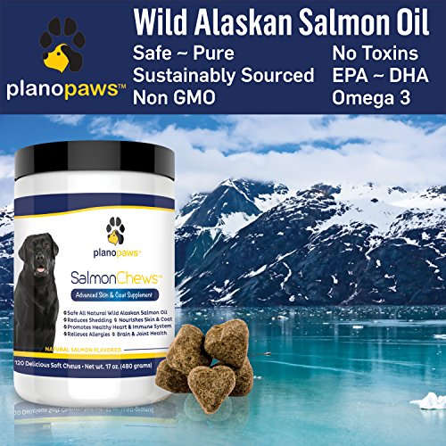 Salmon-Oil-for-Dogs-Omega-3-Fish-Oil-for-Dogs-Itching-Skin-Relief-Dog-Allergy-Relief-Medicine-Improves-Shedding-Itchy-Dog-Skin-120-Dog-Fish-Oil-Treats-Natural-Wild-Alaskan-Salmon-Oil-Chews-0-2