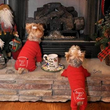 Santas-Lil-Helper-Embroidered-Thermal-Dog-Pajamas-X-Small-0-2